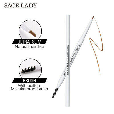 Lasting Automatic Rotate Dual Ended Eyebrow Pencil With Brush Brow Tattoo Pen