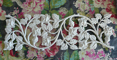ShaBBy Salvage Metal RoSeS Architectural Piece~Wrought Iron/Old Fence/Gate Decor