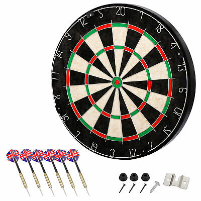 Dartboard Set Shot King  Bristle Steel Tip Metal Radial Spider Wire Sisal Board