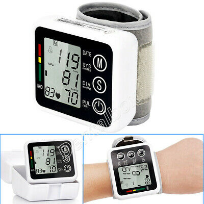 Wrist Type Automatic Electric Blood Pressure Monitor LCD Digital Display Screen.
