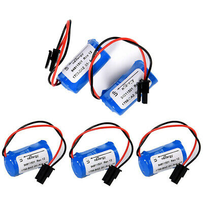 5X 1200mAh BR2/3A-AB PLC Lithium Battery For 1756-BA2 HHT Series