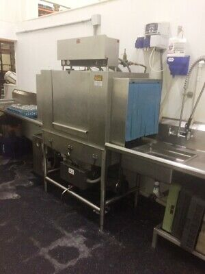 Commercial Dishwasher-Jackson Warewashing Machine-  with 2 tables and Auto_Chlor