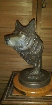 "Wolf Bust ""CANIS LUPUS"" - Duck's Unlimited - Resin - Heavy"