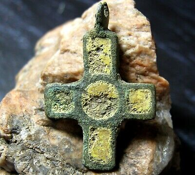 Ancient Viking Artifact, Viking cross 10-11 century AD.Archaeological find.