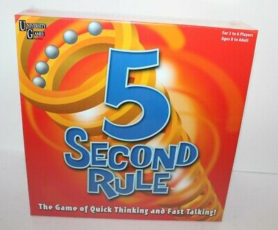 5 Second Rule Board Game Brand New Sealed University Games 8+