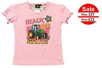 JOHN DEERE CHILDS BOYS TRACTOR T-SHIRT 5-6 YEARS 116//122
