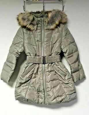 Bluezoo Girls Grey Padded Belted Coat Age 4-5 EU 110cm LN001 SS 05