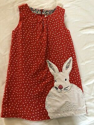 Boden Dress Age 5-6 Bunny, Easter, Christmas