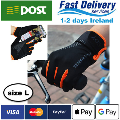 Thermal Cycling Gloves Waterproof Touch Screen SIZE L