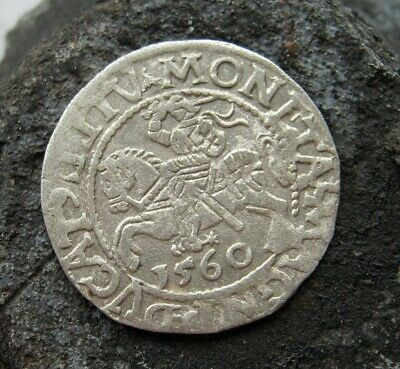 Ancient Medieval silver European coin 1560 year
