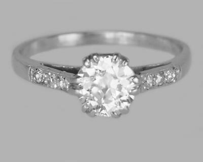Antique 18ct Gold Solitaire 0.80ct Old Cut Diamond Vintage Engagement Ring c1910