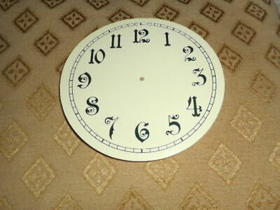 "Round Paper (Card) Clock Dial - 5 1/4"" M/T - Arabic - GLOSS CREAM - Parts/Spares"