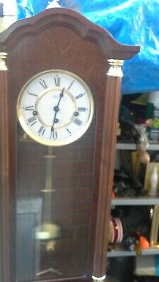 Vintage clock with 8 day running time from Hermle Westminster chimes.