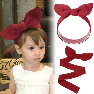 Red Adjustable Head Wraps Hair Accessories Baby Girl Headband Bow Hairband