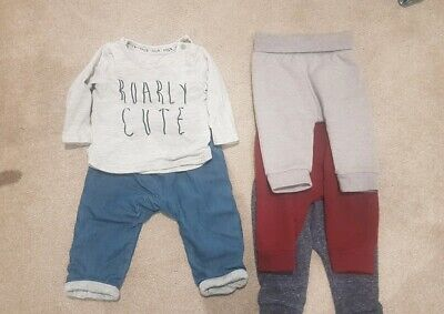 Boys TU Joggers Bundle And Jeans Outfit 3-6 Months