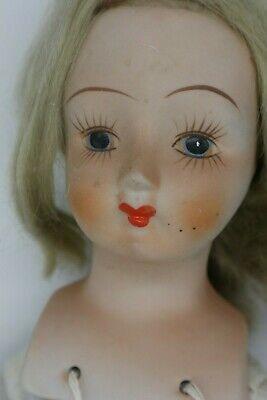 """Large 18"""" Stunning Hand Painted Features Antique German Bisque Doll"""