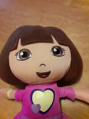 "Talking ""Happy Hugs"" Dora The Explorer Plush Stuffed Doll 10"" 2010 Fisher Price"