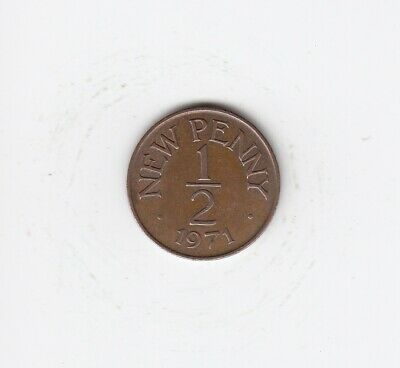 1971 Guernsey HALF PENNY 1/2p Extremely Nice Circulated Coin   (4169)