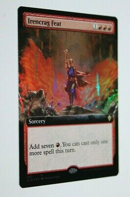 RARE Magic The Gathering MTG Throne Of Eldraine Extended Art FOIL Irencrag Feat!