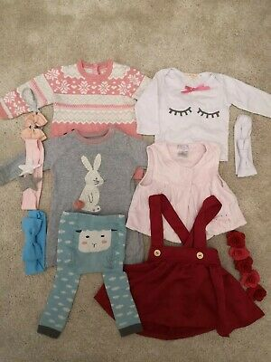 Baby Girl Bundle 3-6 Months Dress Skirt Headbands