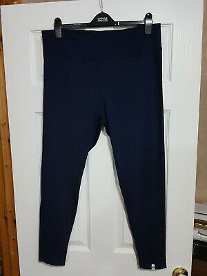 New Womens Marks & Spencer Sports Leggings Navy Size UK 18