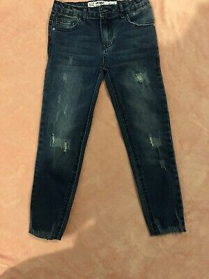 Boys Skinny Blue Ripped Design Heans Age 6-7 VGC