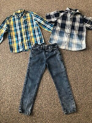 Next Boys 2 X Shirts & Jeans Bundle Age 4-5 Years VGC