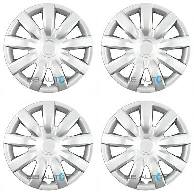 """SET of 4 NEW 15"""" Silver Hubcaps Rim Wheel Covers for 2004-2006 TOYOTA CAMRY"""