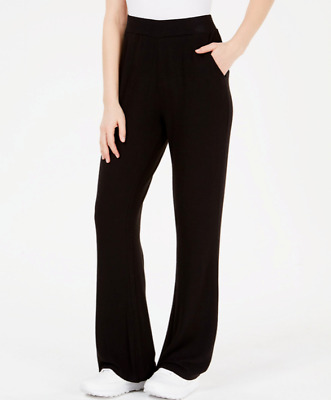 Guess Women's Pull On Stretch Opal Flare Black Pants Size Large