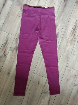Justice maroon burgendy pink Full Length Leggings Girls Size 12 NWT stretch yoga