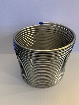 "50' Stainless Steel Jockey Box Coil. 3/8"" OD. NEW"