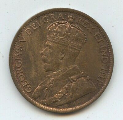 Canada 1914 Large cent (#1585) Decent amount of luster. Light spotting.