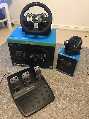 Logitech G920 With Shifter Driving Force Racing Wheel for Xbox One and PC