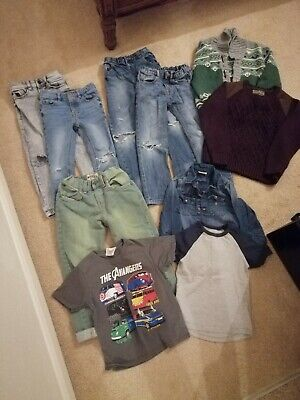 Bundle Of Boys Jeans Clothes Jumpers Size 5 6 7
