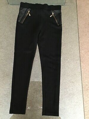 Girls River Island Black Jeggings Size 7/8 Years Good Condition