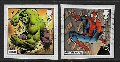 1) GB Stamps 2019 Marvel Set of Booklet Self Adhesives. Used.