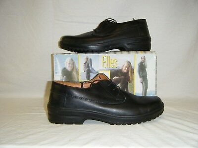 Genuine British Army Woman's Ladies Leather steel toe cap Shoes Black Size 8 42