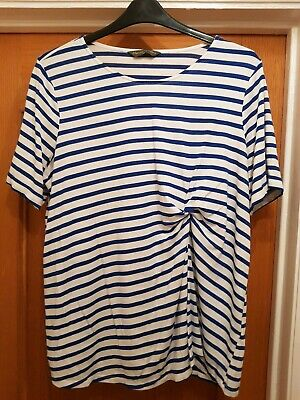 Blue & White striped maternity top, size XL from Blooming Marvelous, Mothercare
