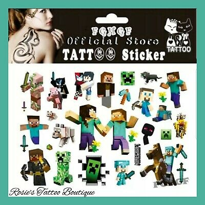 Boys Xbox games Temporary Tattoos Kids Fun Pocket money Toys Party Bag Fillers ☆