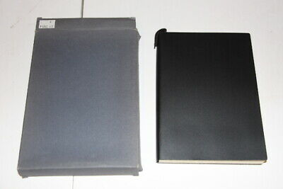 Pinetti Black Leather Notebook Journal Handmade in Italy Large 6x8 In box