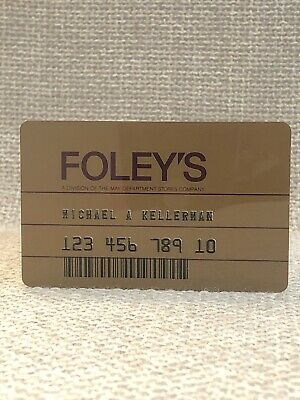Foley's Department Store Vintage Collectors Credit Card