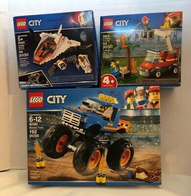 LEGO City Monster Truck 60180 Barbecue Burn Out 60212 Satellite Mission 60224
