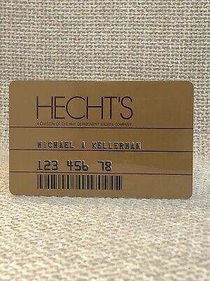 Hecht's Department Store Vintage Collectors Credit Card