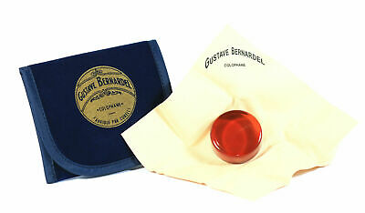 Gustave Bernardel Rosin for Violin & Cello Suede Cloth Wrapper Blue Cloth Pouch