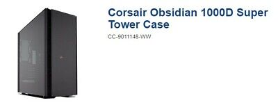 Corsair Obsidian 1000D Super Tower Case tempered glass black