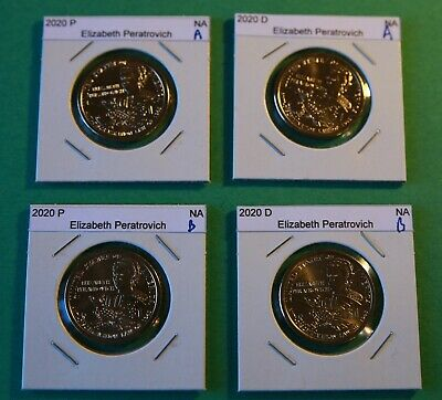 #2s 2020 PD  Pos A&B 4 Coins $1 Native American- Mint Bags/rolls