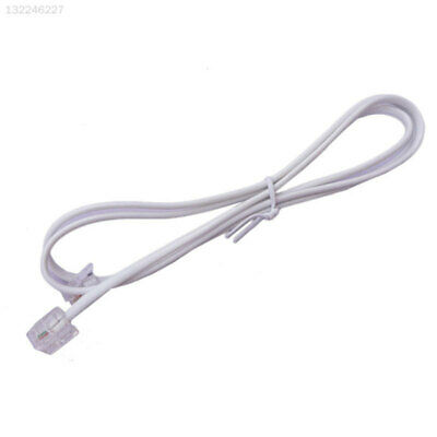 079C White ADSL2+RJ11 Telephone Line Phone Lines Lead Wire Cable Internet