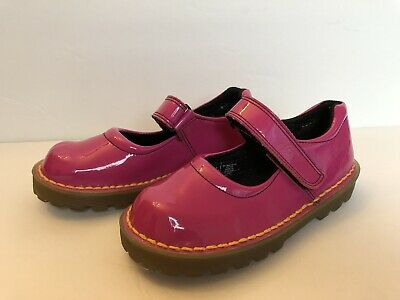 Doc Martens Girls Sz 12 Tully Bright Pink Patent Leather Mary Janes Shoe Easter