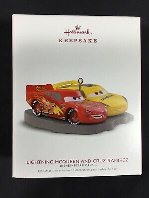 2018 Hallmark Keepsake Disney/Pixar Cars 3 Lightning McQueen and Cruz Ramirez
