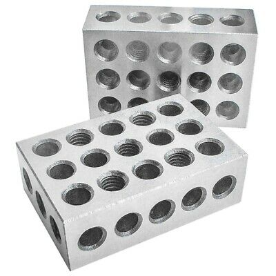 10X(Hardened Steel Blocks 23 Holes Parallel Clamping Block Lathe Tools Prec E8R4